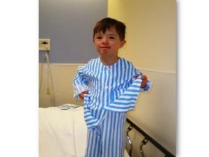 my son, pre-surgery.