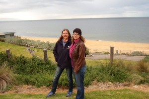 Cath Crock & me, Brighton Beach.